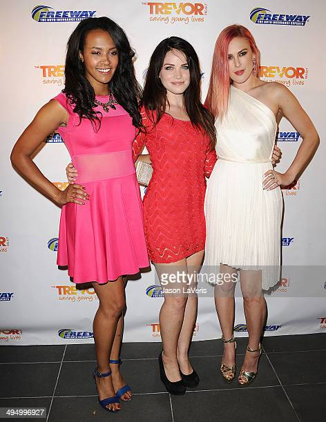 Corbin Reid Lindsay Pearce and Rumer Willis attend Prom 2014 A Night Out For Trevor at Petersen Automotive Museum on May 31 2014 in Los Angeles...