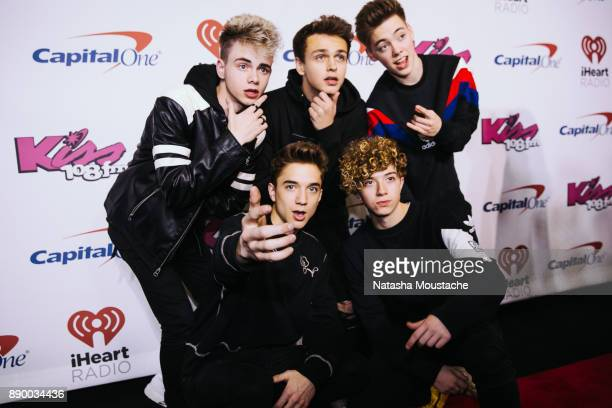 Corbyn Besson Jonah Marais Zach Herron Daniel Seavey and Jack Avery of Why Don't We attend the KISS 108's Jingle Ball 2017 presented by Capital One...