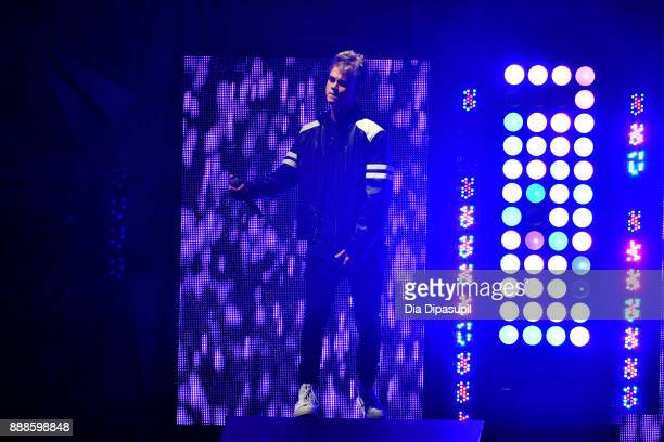 Corbyn Besson of Why Don't We performs onstage at the Z100's Jingle Ball 2017 on December 8 2017 in New York City