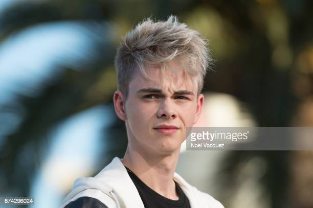 Corbyn Besson of Why Don't We visits 'Extra' at Universal Studios Hollywood on November 14 2017 in Universal City California