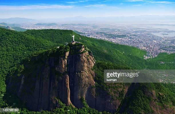 Corcovado las montañas y cristo el redentor