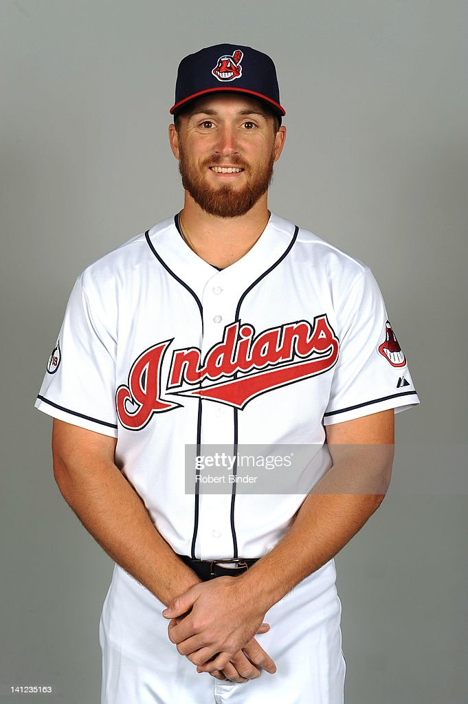 Cord Phelps of the Cleveland Indians poses during portrait session on February 29, 2012 in Glendale , Arizona.