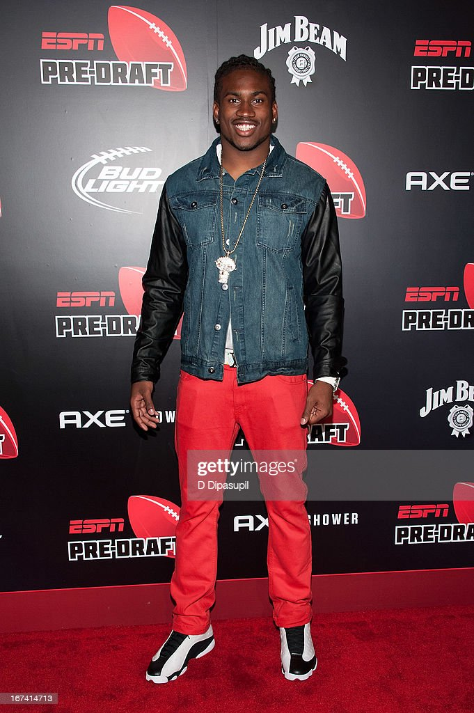 <a gi-track='captionPersonalityLinkClicked' href=/galleries/search?phrase=Cordarrelle+Patterson&family=editorial&specificpeople=9687572 ng-click='$event.stopPropagation()'>Cordarrelle Patterson</a> attends the ESPN The Magazine 10th annual Pre-Draft Party at The IAC Building on April 24, 2013 in New York City.