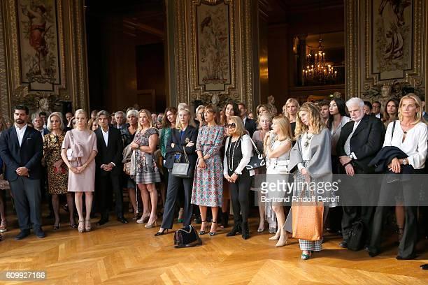 Cordelia de Castellane Pauline Favier her sister Mathilde Favier and the mother of Cyril Karaoglan attend Cyril Karaoglan receives the Medal of...