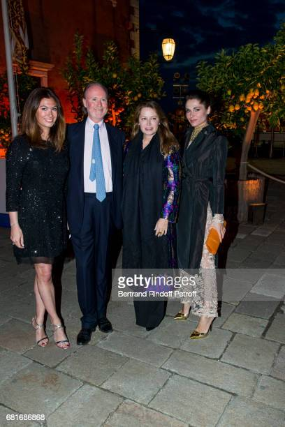 Cordelia de Castellane Prince and Princess Pierre D'Arenberg and guest attends the Cini party during the 57th International Art Biennale on May 10...