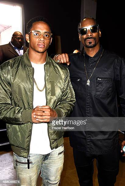 Cordell Broadus and Rapper Snoop Dogg attend the 2015 iHeartRadio Music Awards which broadcasted live on NBC from The Shrine Auditorium on March 29...