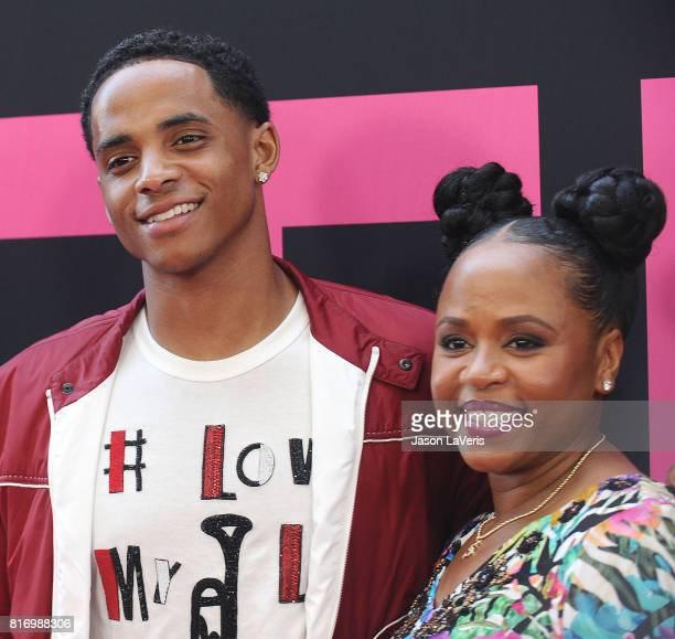 Cordell Broadus and Shante Broadus attend the premiere of 'Girls Trip' at Regal LA Live Stadium 14 on July 13 2017 in Los Angeles California