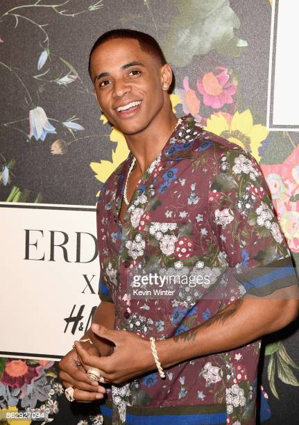 Cordell Broadus at HM x ERDEM Runway Show Party at The Ebell Club of Los Angeles on October 18 2017 in Los Angeles California
