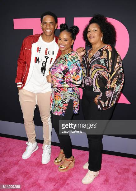 Cordell Broadus Shante Broadus and guest attend the premiere of 'Girls Trip' at Regal LA Live Stadium 14 on July 13 2017 in Los Angeles California
