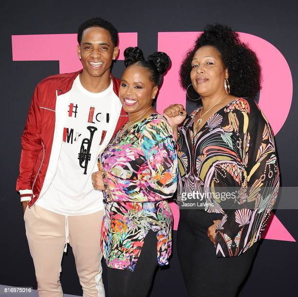 Cordell Broadus Shante Broadus and Lady of Rage attend the premiere of 'Girls Trip' at Regal LA Live Stadium 14 on July 13 2017 in Los Angeles...