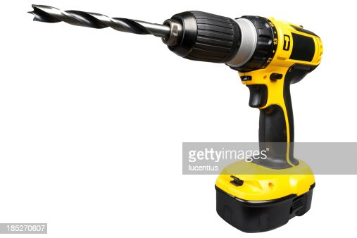Cordless electric drill isolated on white