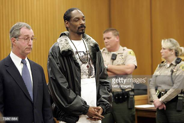 Cordozar Calvin Broadus Jr also known as rapper Snoop Dogg listens to the judge at the Pasadena Superior Court during his hearing April 11 2007 in...