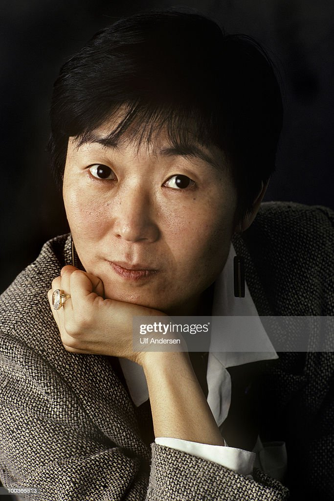 Corean writer Choe Yun poses at a portrait session to promote her book. on December 21, 1995. Paris, France