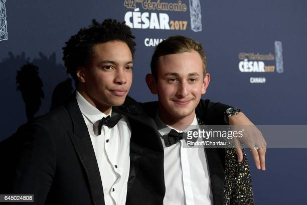 Corentin Fila and Kacey Mottet arrive at the Cesar Film Awards Ceremony at Salle Pleyel on February 24 2017 in Paris France