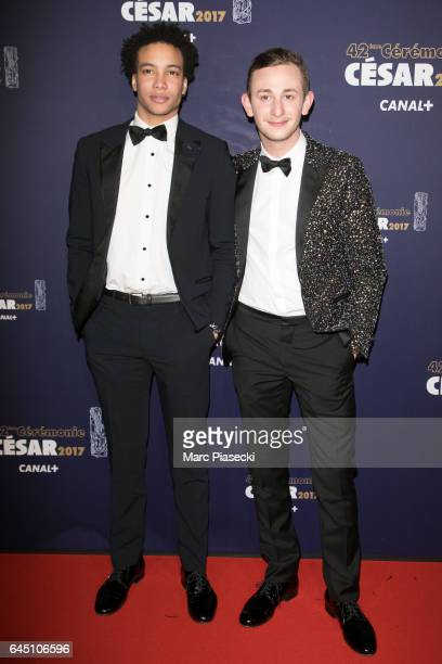 Corentin Fila and Kacey Mottet attend the the Cesar Film Awards 2017 ceremony at Salle Pleyel on February 24 2017 in Paris France