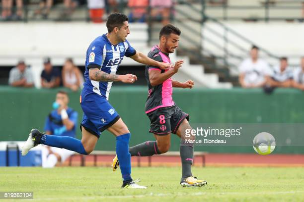 Corentin Jean of Toulouse during the friendly match between Toulouse FC and Deportivo Alaves on July 19 2017 in Saint Jean de Luz France