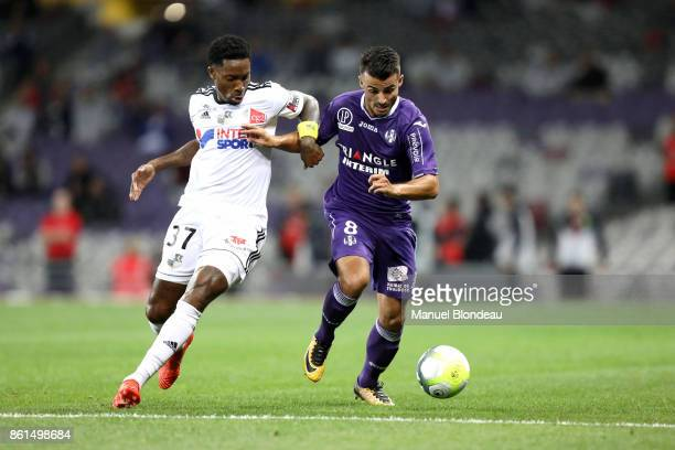 Corentin Jean of Toulouse during the Ligue 1 match between Toulouse and Amiens SC at Stadium Municipal on October 14 2017 in Toulouse