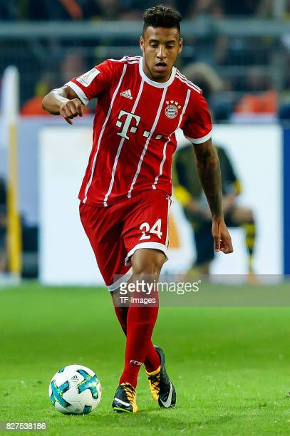 Corentin Tolisso of Bayern Muenchen controls the ball during the DFL Supercup 2017 match between Borussia Dortmund and Bayern Muenchen at Signal...