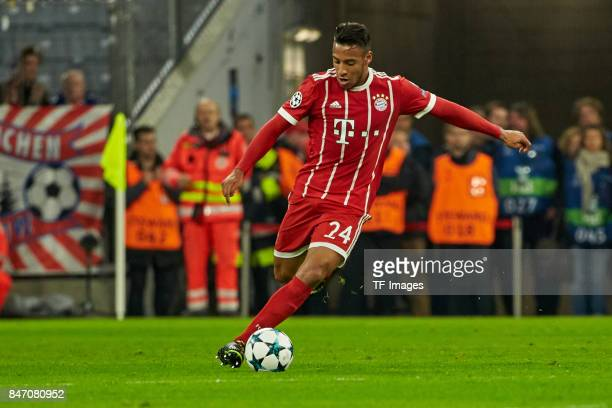 Corentin Tolisso of Bayern Muenchen controls the ball during the UEFA Champions League group B match between Bayern Muenchen and RSC Anderlecht at...