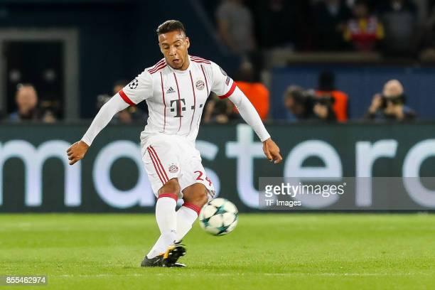 Corentin Tolisso of Bayern Muenchen controls the ball during the UEFA Champions League group B match between Paris SaintGermain of Paris SaintGermain...