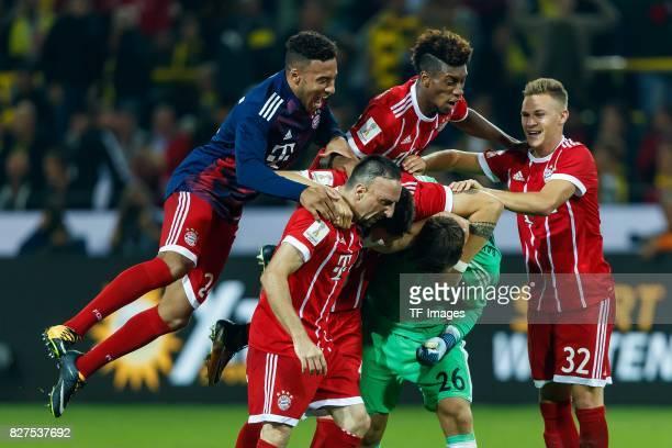Corentin Tolisso of Bayern Muenchen Kingsley Coman of Bayern Muenchen Franck Ribery of Bayern Muenchen Joshua Kimmich of Bayern Muenchen Goalkeeper...