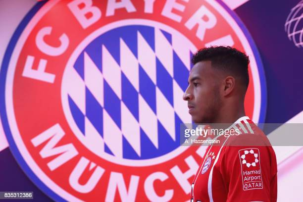 Corentin Tolisso of Bayern Muenchen looks on at the players tunnel prior to the Bundesliga match between FC Bayern Muenchen and Bayer 04 Leverkusen...