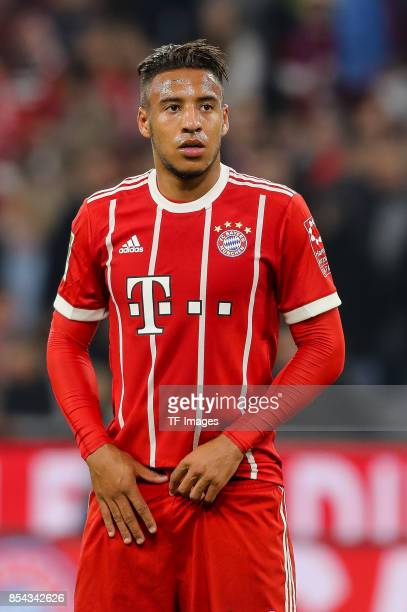 Corentin Tolisso of Bayern Muenchen looks on during the Bundesliga match between FC Bayern Muenchen and VfL Wolfsburg at Allianz Arena on September...