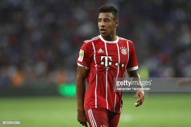 Corentin Tolisso of Bayern Muenchen looks on during the International Champions Cup 2017 match between Bayern Muenchen and Chelsea FC at National...