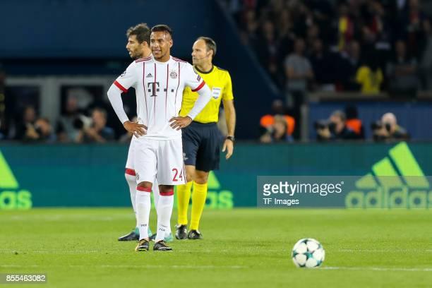 Corentin Tolisso of Bayern Muenchen looks on during the UEFA Champions League group B match between Paris SaintGermain of Paris SaintGermain and...