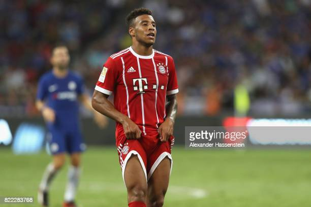 Corentin Tolisso of Bayern Muenchen reacts during the International Champions Cup 2017 match between Bayern Muenchen and Chelsea FC at National...