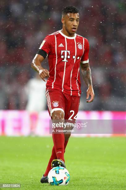 Corentin Tolisso of Bayern Muenchen runs with the ball during the Bundesliga match between FC Bayern Muenchen and Bayer 04 Leverkusen at Allianz...