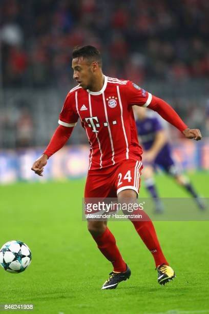 Corentin Tolisso of Bayern Muenchen runs with the ball during the UEFA Champions League group B match between FC Bayern Muenchen and RSC Anderlecht...