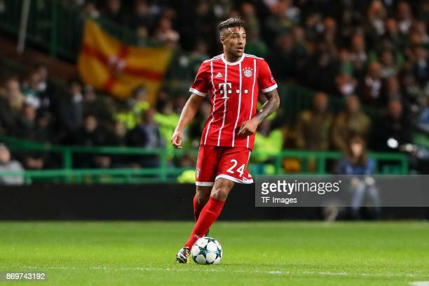Corentin Tolisso of Bayern Munich controls the ball during the UEFA Champions League group B match between Celtic FC and Bayern Muenchen at Celtic...