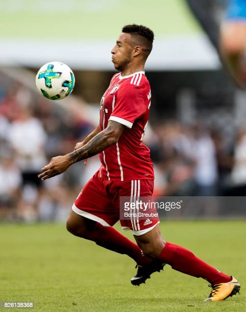Corentin Tolisso of FC Bayern Muenchen controls the ball during the Audi Cup 2017 match between SSC Napoli and FC Bayern Muenchen at Allianz Arena on...