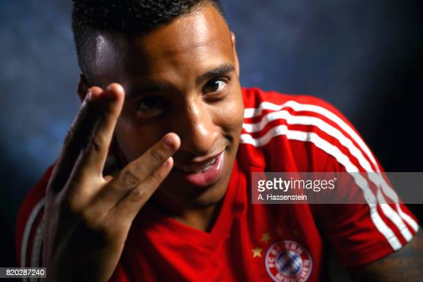 Corentin Tolisso of FC Bayern Muenchen poses for a portrait during the Audi Summer Tour 2017 on July 21 2017 in Shenzhen China