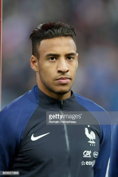 Corentin Tolisso of France during the National anthem before the FIFA 2018 World Cup Qualifier between France and Belarus at Stade de France on...