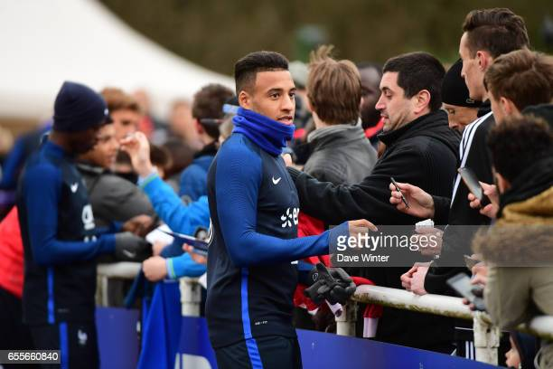 Corentin Tolisso of France during the trainig session of the soccer french national team at Centre National du Football on March 20 2017 in...