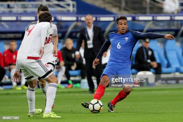 Corentin Tolisso of France in action during the FIFA 2018 World Cup Qualifier between France and Belarus at Stade de France on October 10 2017 in...