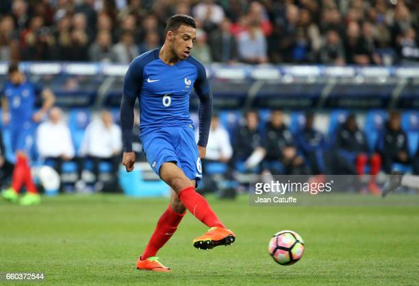 Corentin Tolisso of France in action during the international friendly match between France and Spain between France and Spain at Stade de France on...