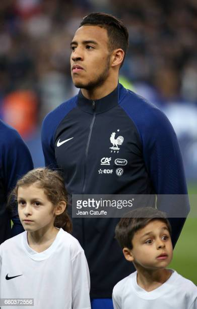 Corentin Tolisso of France looks on before the international friendly match between France and Spain between France and Spain at Stade de France on...