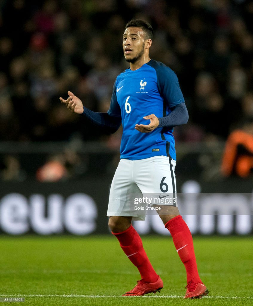 Corentin Tolisso of France reacts during the International friendly match between Germany and France at RheinEnergieStadion on November 14, 2017 in Cologne, Germany.