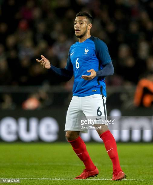 Corentin Tolisso of France reacts during the International friendly match between Germany and France at RheinEnergieStadion on November 14 2017 in...