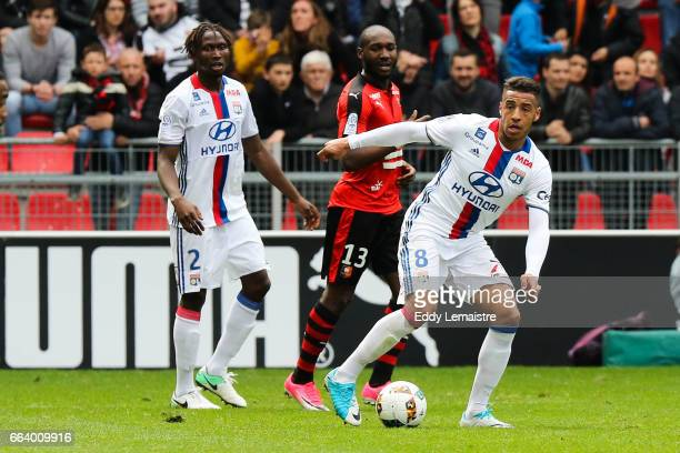 Corentin Tolisso of Lyon during the French Ligue 1 match between Rennes and Lyon at Roazhon Park on April 2 2017 in Rennes France
