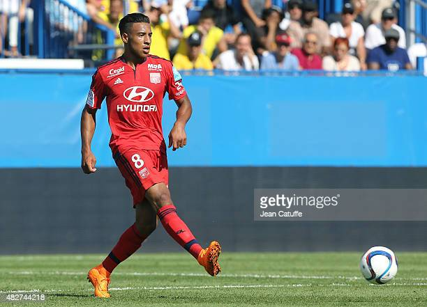 Corentin Tolisso of Lyon in action during the 2015 Trophee des Champions between Paris SaintGermain and Olympique Lyonnais at Stade Saputo on August...