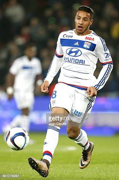 Corentin Tolisso of Lyon in action during the French Ligue 1 match between Paris SaintGermain and Olympique Lyonnais at Parc des Princes stadium on...