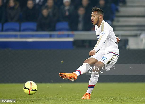 Corentin Tolisso of Lyon in action during the French Ligue 1 match between Olympique Lyonnais and Troyes ESTAC at their brand new stadium Parc...
