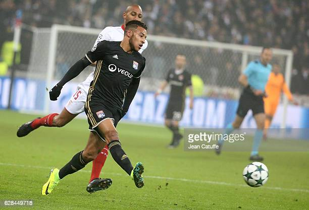 Corentin Tolisso of Lyon in action during the UEFA Champions League match between Olympique Lyonnais and Sevilla FC at Parc OL on December 7 2016 in...