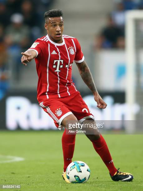 Corentin Tolisso of Muenchen controls the ball during the Bundesliga match between TSG 1899 Hoffenheim and FC Bayern Muenchen at Wirsol...