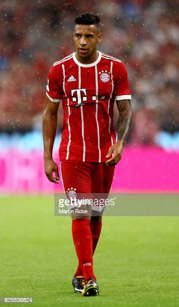 Corentin Tolisso of Muenchen looks on during the Audi Cup 2017 match between Bayern Muenchen and Liverpool FC at Allianz Arena on August 1 2017 in...