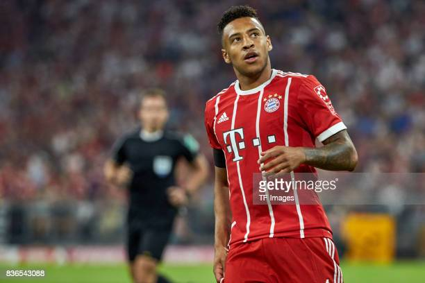 Corentin Tolisso of Muenchen looks on during the Bundesliga match between FC Bayern Muenchen and Bayer 04 Leverkusen at Allianz Arena on August 18...
